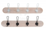 PERCHERO PARED MADERA-METAL 59X14X6 NATURAL-NEGRO