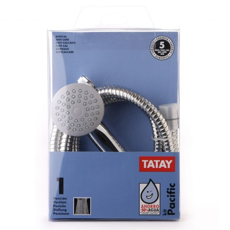 Telefono ducha flexo 1 7m pacific tatay 1 posicion for Telefono ducha