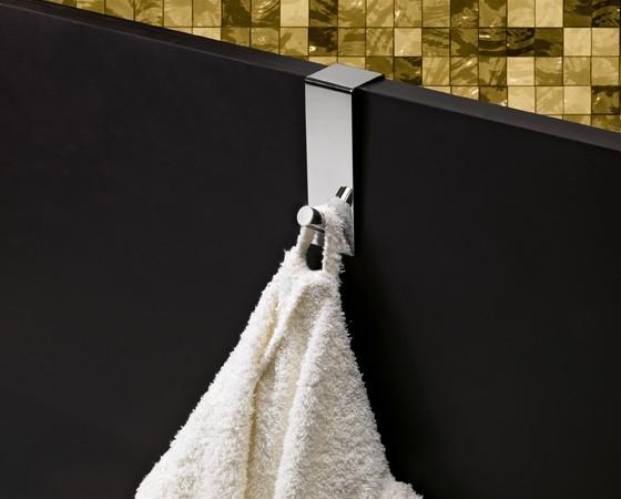 Colgador sobrepuerta acero 40mm ancho for Colgador jabon ducha